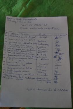 In einer Sitzung der Dorfältesten wurde besprochen, wer die freiwillige Leitung der Bibliothek übernehmen wird und wie oft sie geöffnet sein wird.
