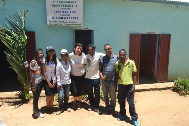 Mit den WWF-Kollegen vor Ort und dem Adjoint du Maire